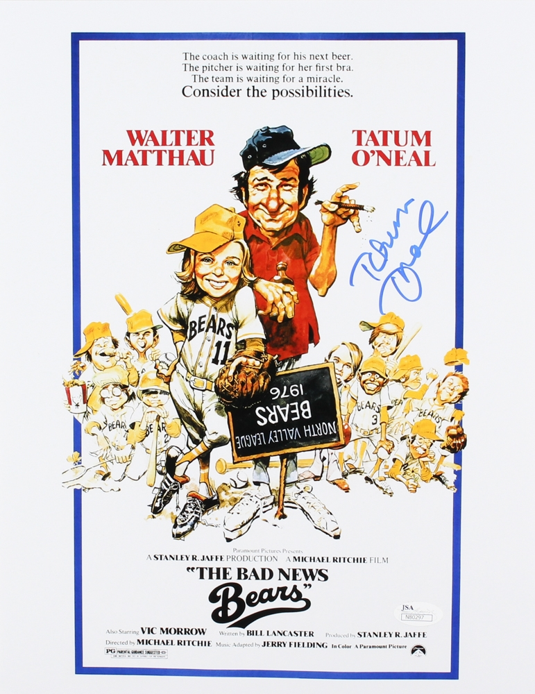 The bad news bear 1976 Walter Mathau movie poster print